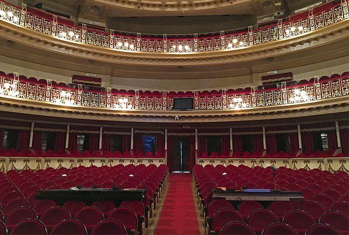 Interior del Teatro Campoamor en Oviedo
