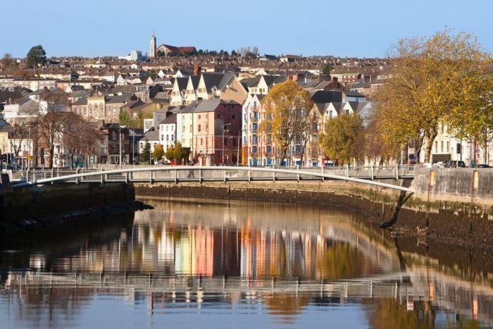 Vistas del río Lee y la ciudad de Cork
