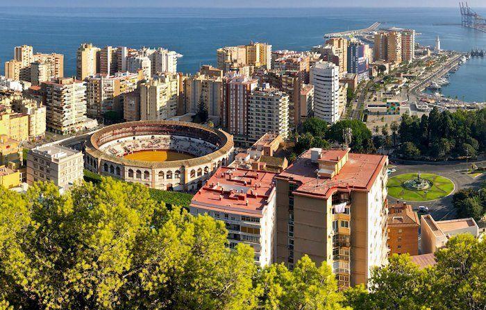vista de la plaza de toros de Málaga