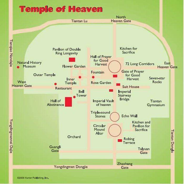 mapa del templo del cielo