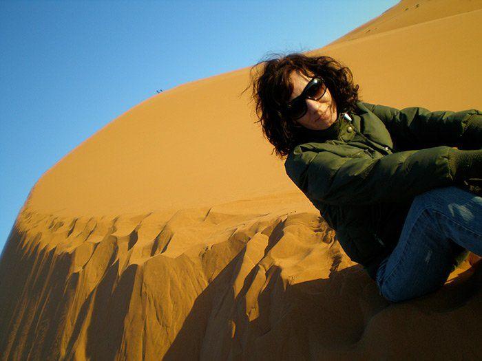 El desierto Merzouga al amanecer. Una excursión de 3 días que hice desde Marrakech.