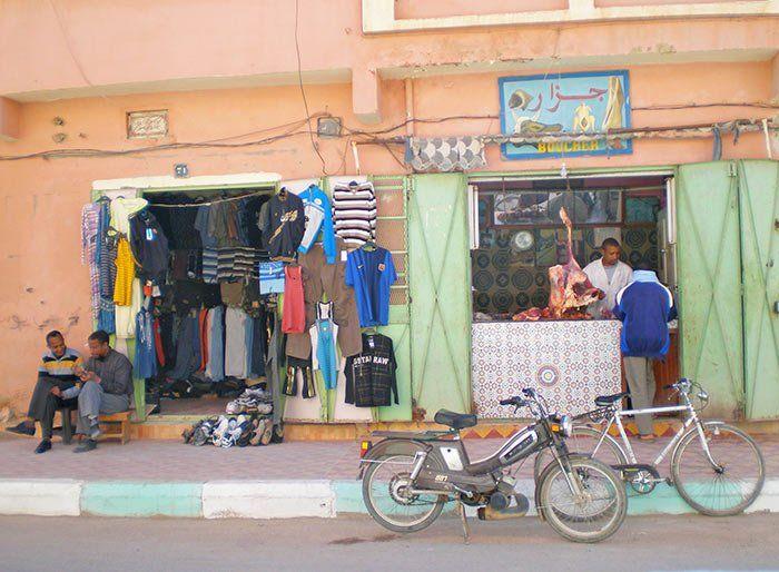 Tiendas en las calles de Marrakech, Marruecos