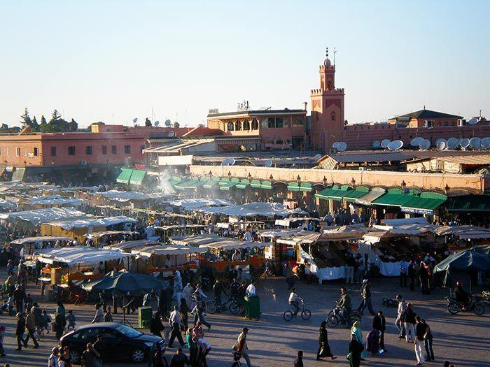 Plaza Jaama el Fna en Marrakech, Marruecos