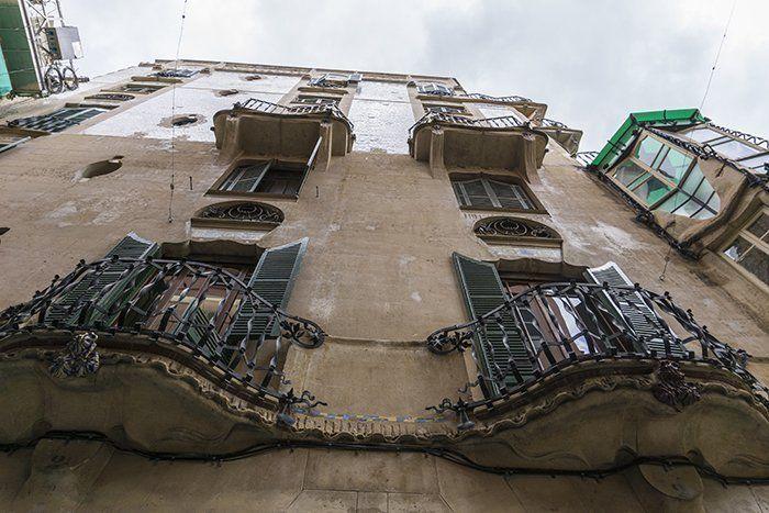 Fachadas en las calles de Mallorca