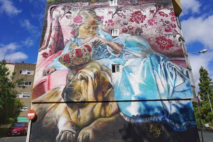 Las Meninas de canido en Ferrol