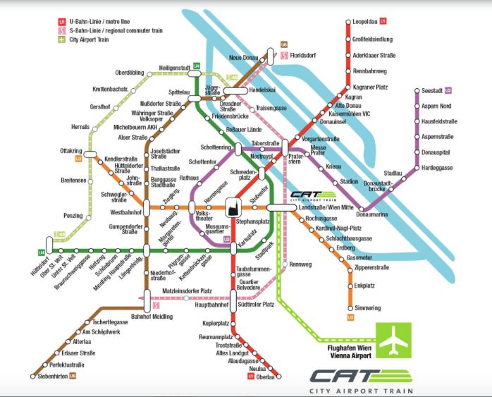 mapa del CAT Viena