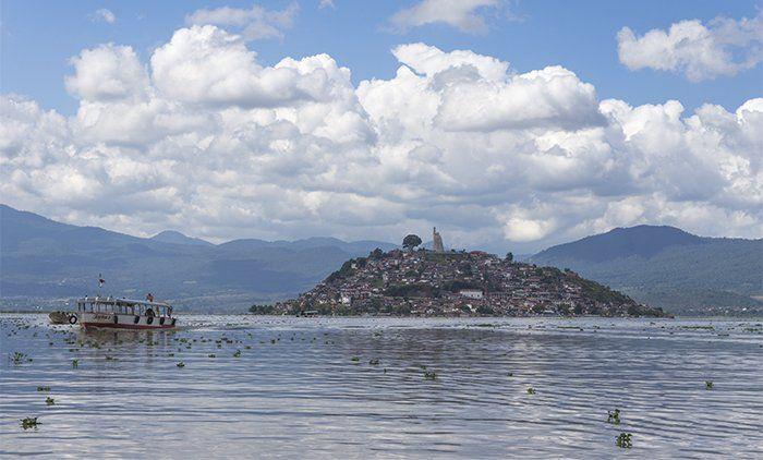 Isla de Janitzio en el Lago Pátzcuaro, Michoacán