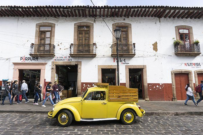 Calles de Pátzcuaro, Michoacán, México América del Norte