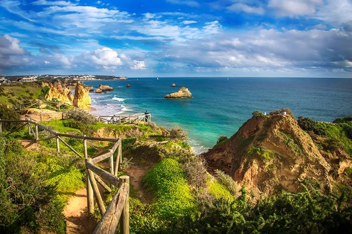 Playas en el sur de Portugal