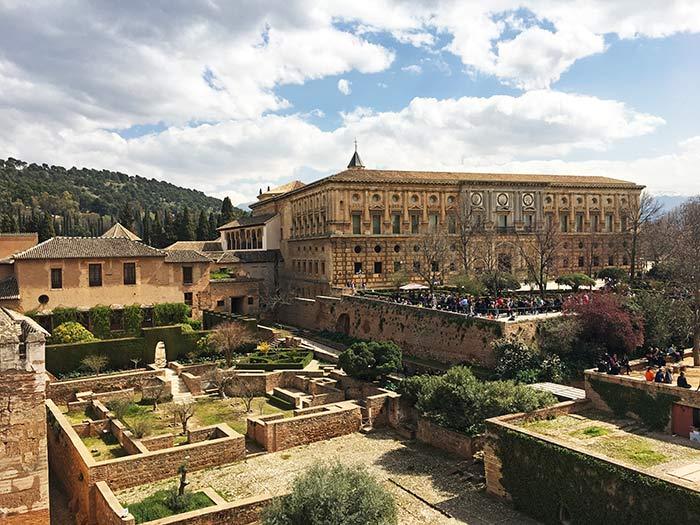 Vistas al exterior del Palacio de Carlos V, La Alhambra