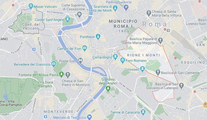 Barrio Monti - Mapa, Roma