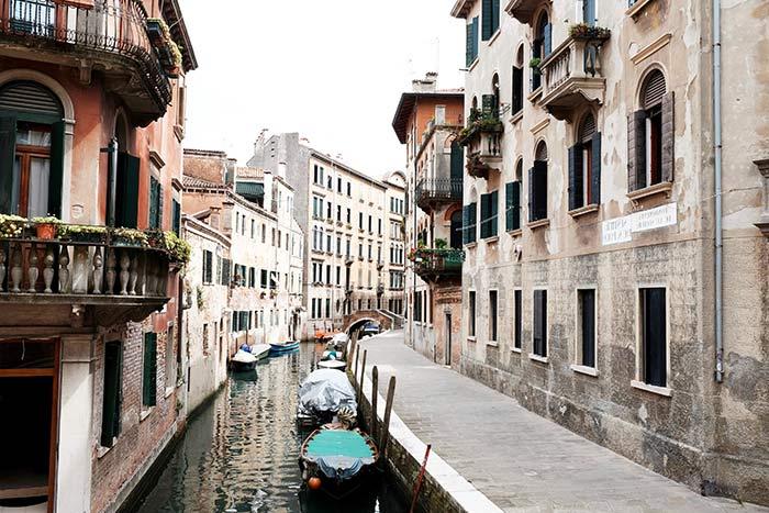 Los preciosos canales de Venecia, Italia