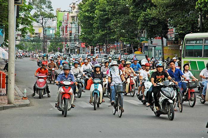 Las caóticas calles de Ho Chi Minh