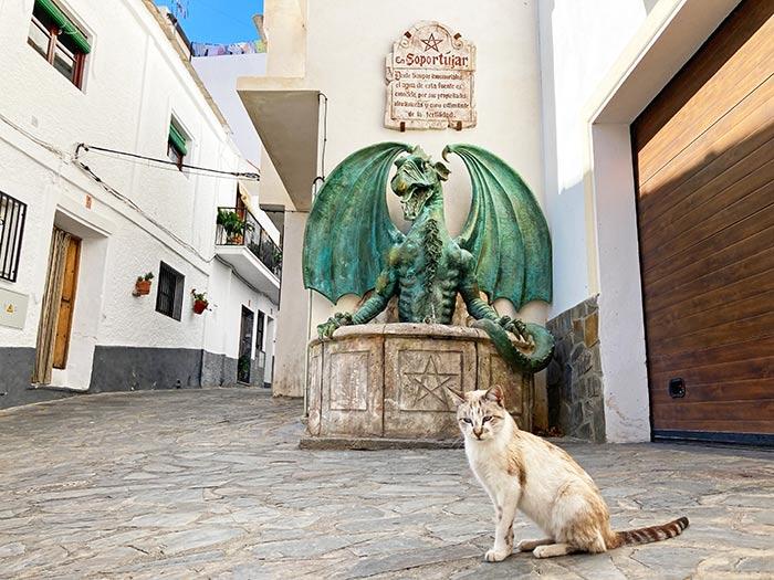 Fuente del Dragón, Soportújar
