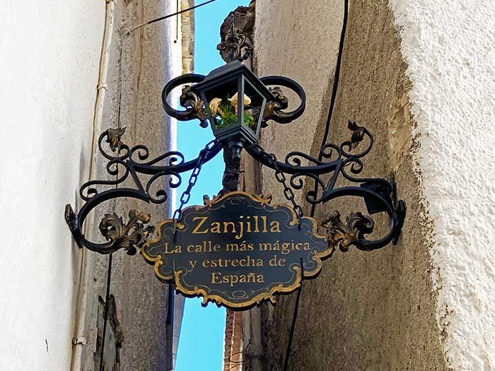 La calle más estrecha en Soportújar