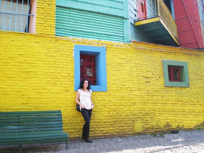 Fachadas coloridas en Caminito, Buenos Aires, Argentina