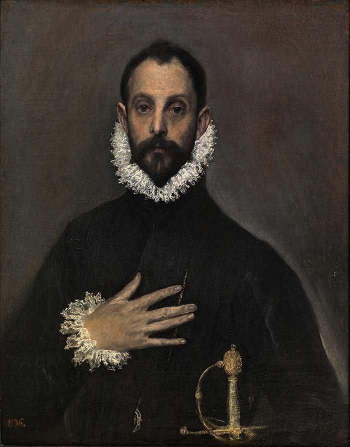 El caballero de la mano en el pecho, El Greco, Museo del Prado