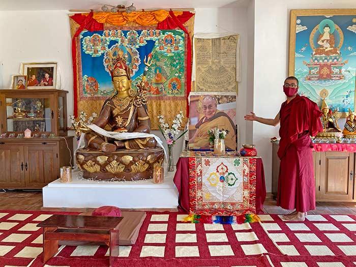 Sala de meditación en O Sel Ling