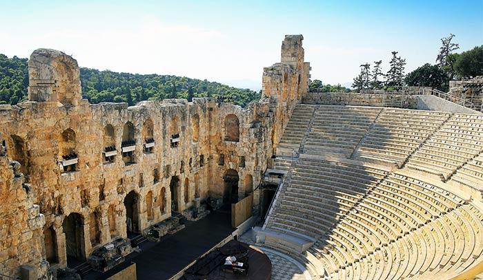 Odeón de Herodes Ático, Acrópolis de Atenas, Grecia