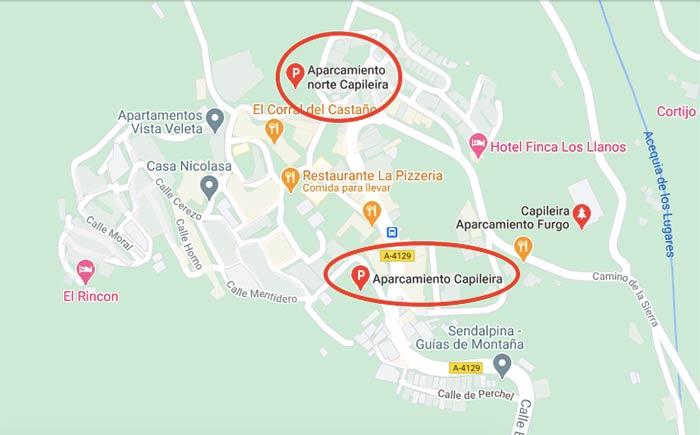 Aparcar en Capileira