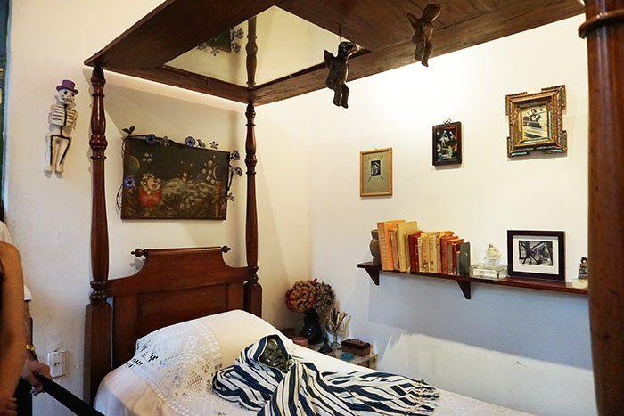 Habitación de Frida Kahlo en su casa de Coyoacán, CDMX