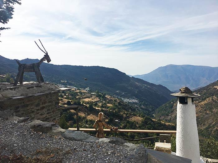 Vistas desde Capileira al barranco