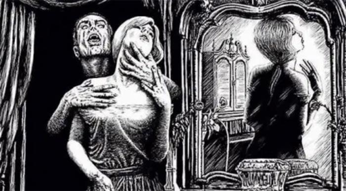 "Dibujo de ""El Vampiro"" de William Polidori."