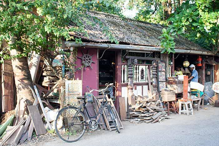 Talleres y tiendas en Fort Kochi, Cochín, Kerala