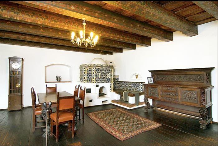 Interiores del castillo de Drácula, sala.