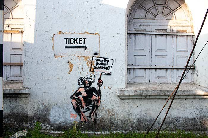 Graffiti en las calles de Fort Kochi, Cochín
