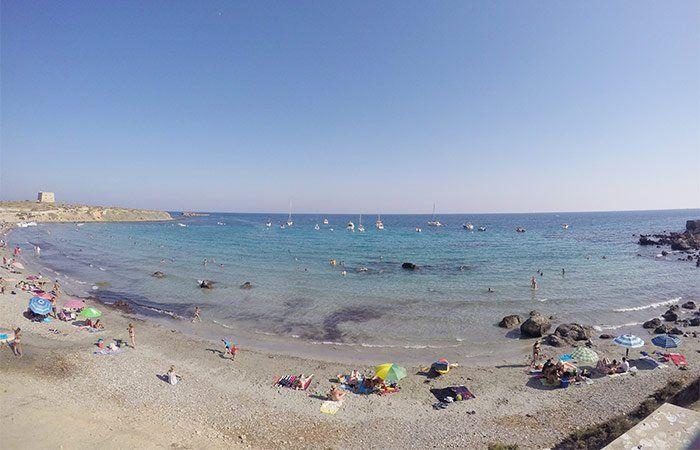 Playa en la isla Tabarca