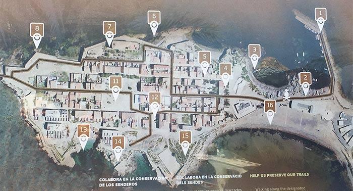Mapa de la isla de Tabarca