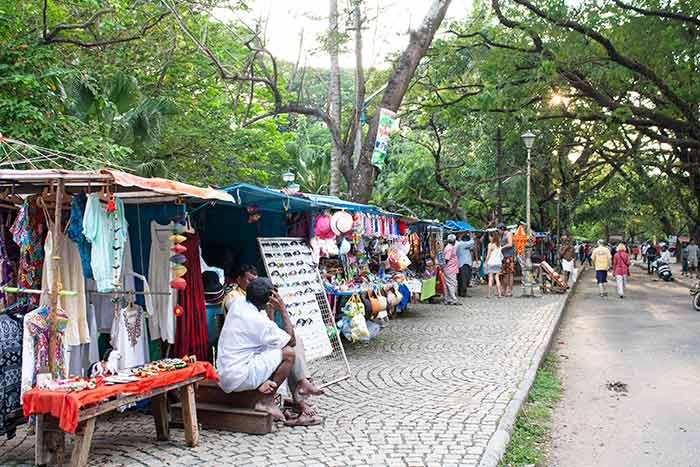 mercadillo callejero en Fort Kochi
