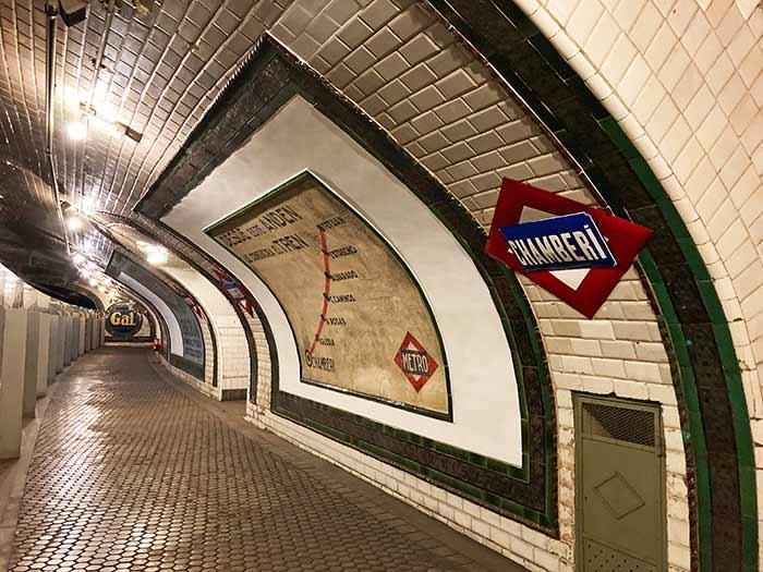 Estación fantasma Chamberí, metro de Madrid