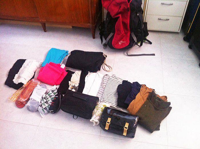 Visualizar lo que vamos a llevar en la maleta de mano