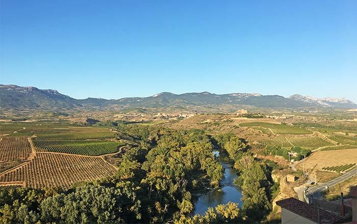 Vistas desde el mirador de Briones, La Rioja