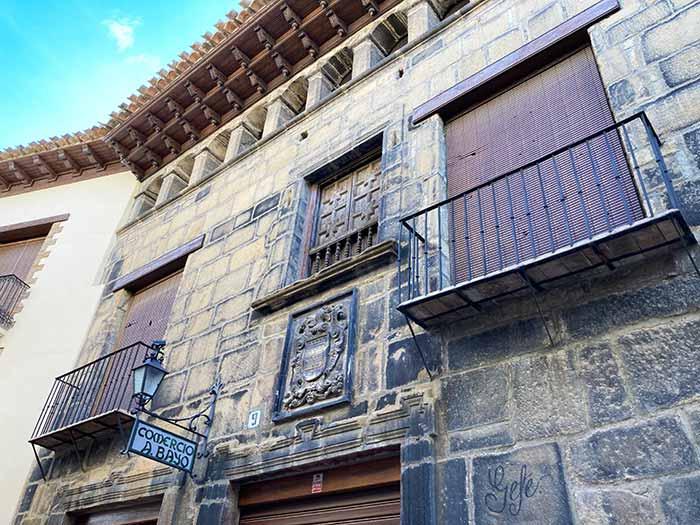 Fachadas en Rubielos de Mora, comarca Gúdar Javalambre, Teruel