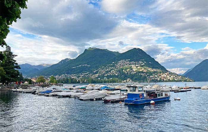 Lago de Lugano, cantón del Tesino, Suiza