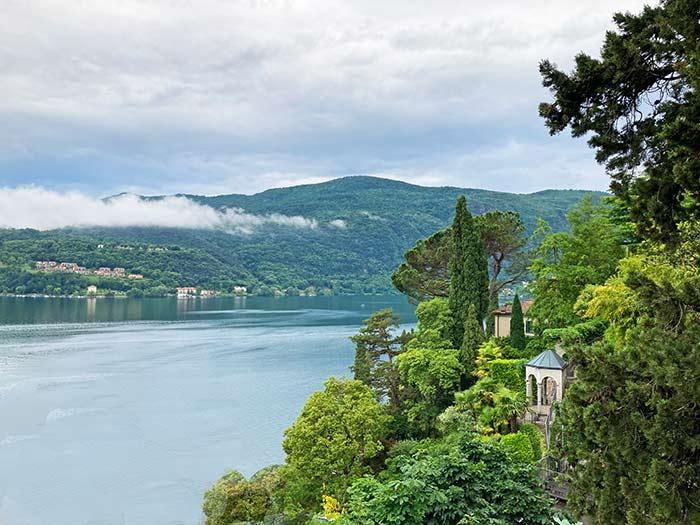 Morcote y vistas al Lago de Lugano, Tesino, Suiza