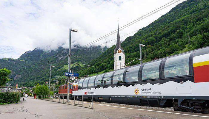 Tren panorámico en Suiza