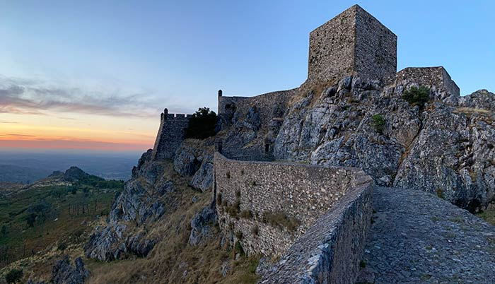 Castillo de Marvão al atardecer