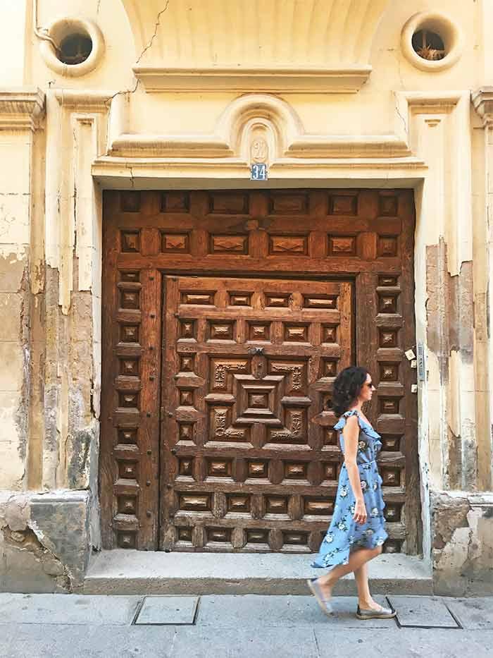 Calles y arquitectura tradicional en Santo Domingo de la Calzada, La Rioja