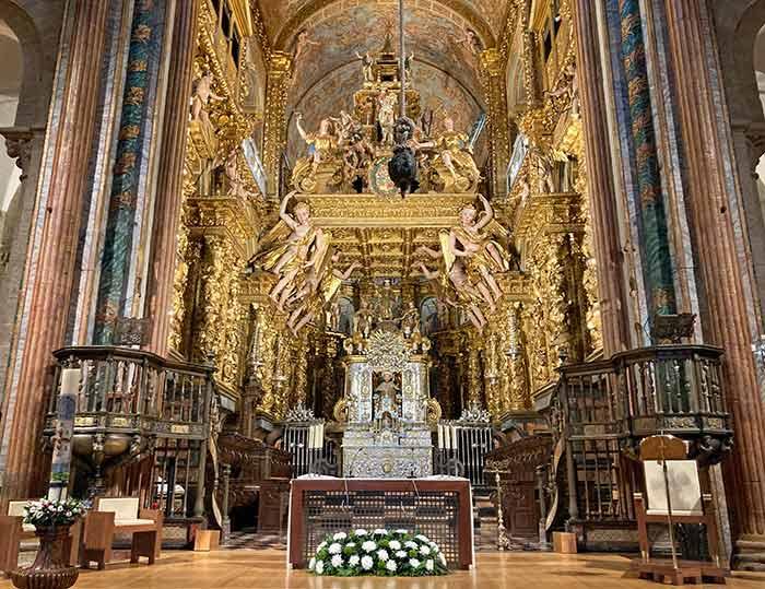 Altar mayor de la Catedral de Santiago de Compostela