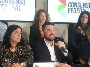 """""""Consenso Federal es una alternativa para superar la grieta. Sí distintas ideas, pero no confrontación"""""""