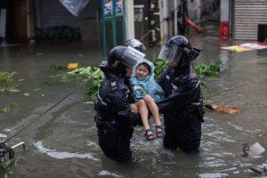 Violento paso de tifón por China: 18 muertos y varios desaparecidos