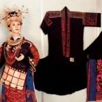 Minorities' garments displayed in the Cultural Palace of Minorities in Beijing