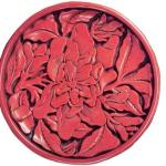 Lacquer plate with gardenia patterns by Zhang Cheng of the Yuan Dynasty.