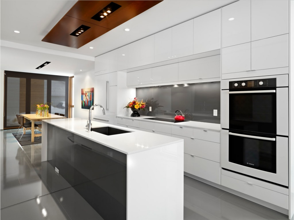 High Gloss Lacquer Kitchen Cabinet Modern Design Sino