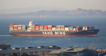 Chinese container ship