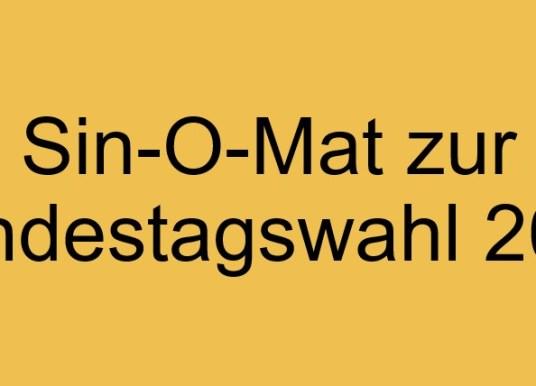 Sin-O-Mat zur Bundestagswahl 2021